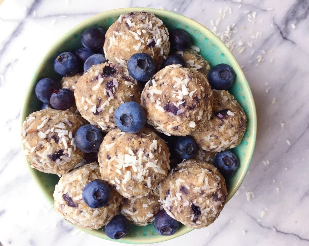No Bake Blueberry Bliss Balls The Dish On Healthy